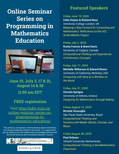 Online Seminar Series on Programming in Mathematics Education Poster