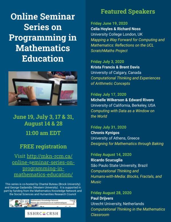Online Seminar Series on Programming in Mathematics Education Poster